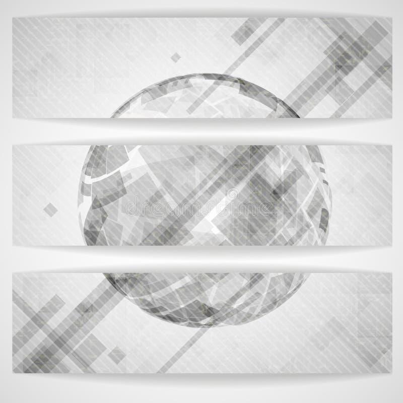 Gray Globe Design. illustrazione di stock