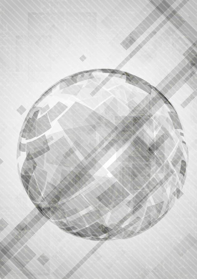Gray Globe Design. illustrazione vettoriale