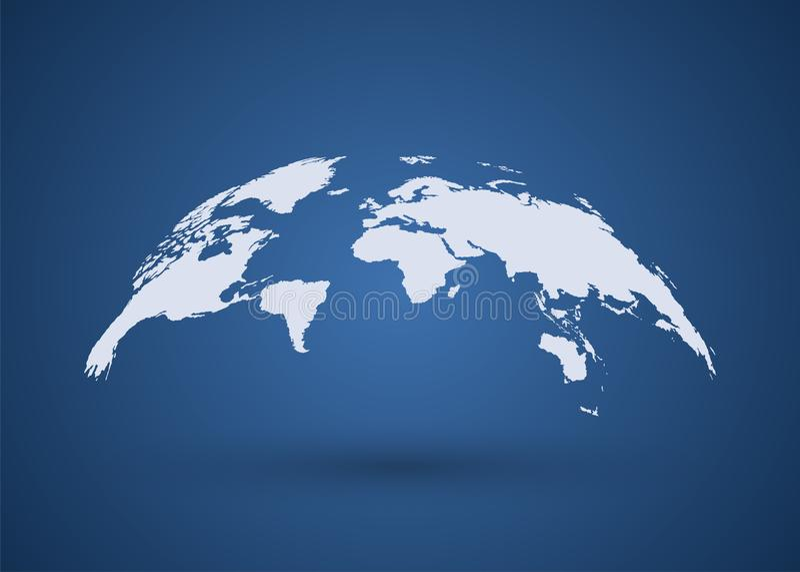 Gray Globe Earth Map Programma di mondo Vettore della mappa del Wold royalty illustrazione gratis