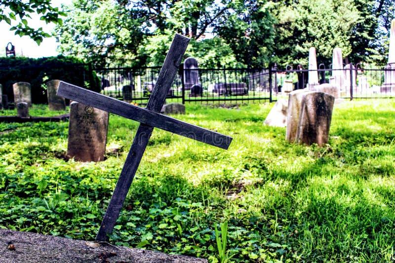 Gray Graveyard stock image