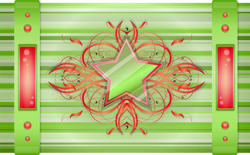 Gray - green background with star. Illustration 10 version stock illustration