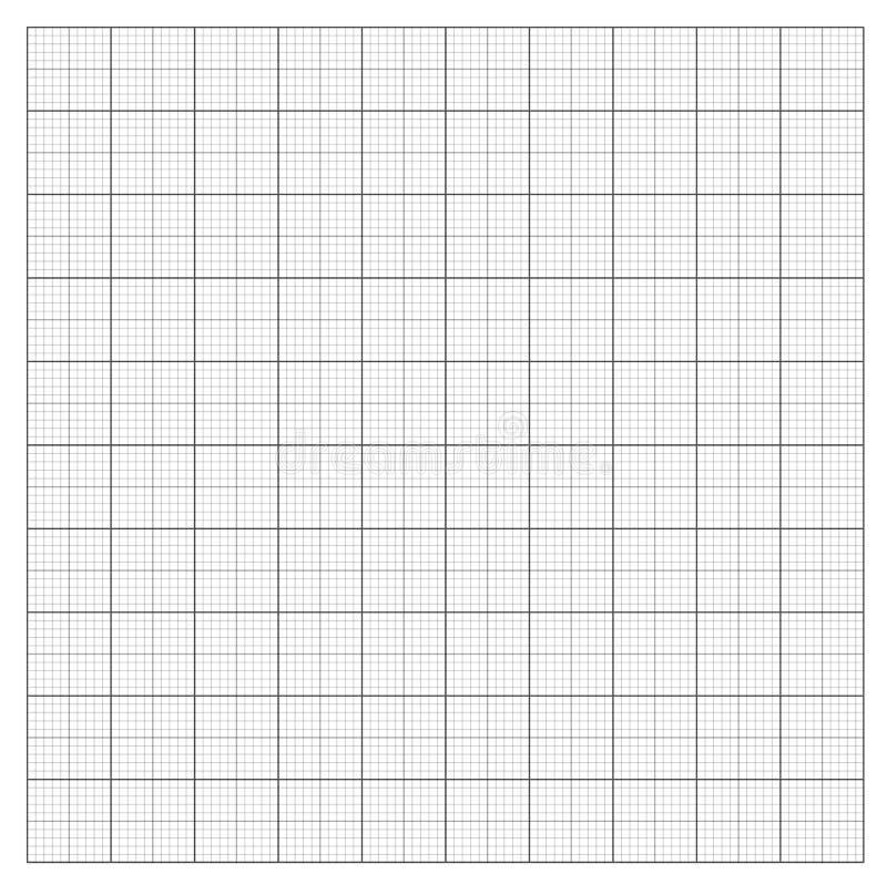 Gray grid paper stock illustration