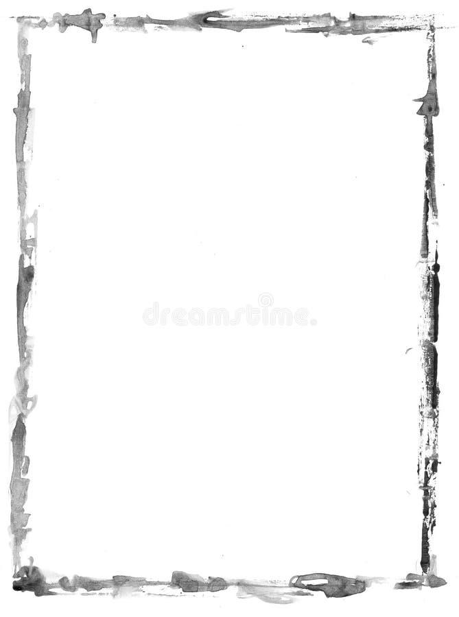 Gray grunge rectangular frame on white background - graphic element royalty free stock images