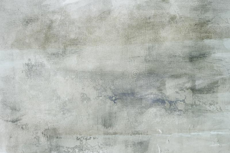 Gray grungy background. Abstract grey painting detail background or texture stock image
