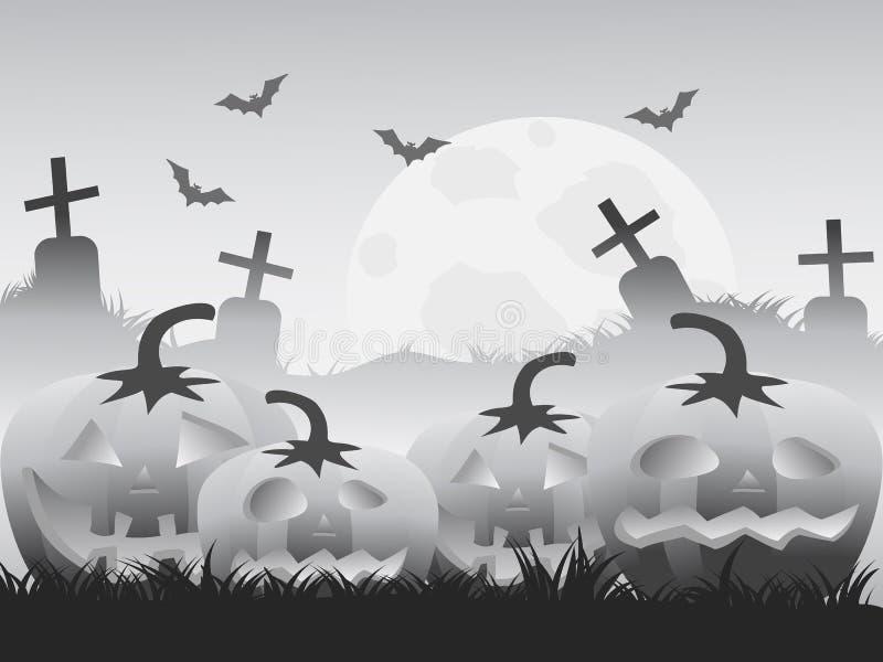 Gray halloween pumpkin background royalty free illustration