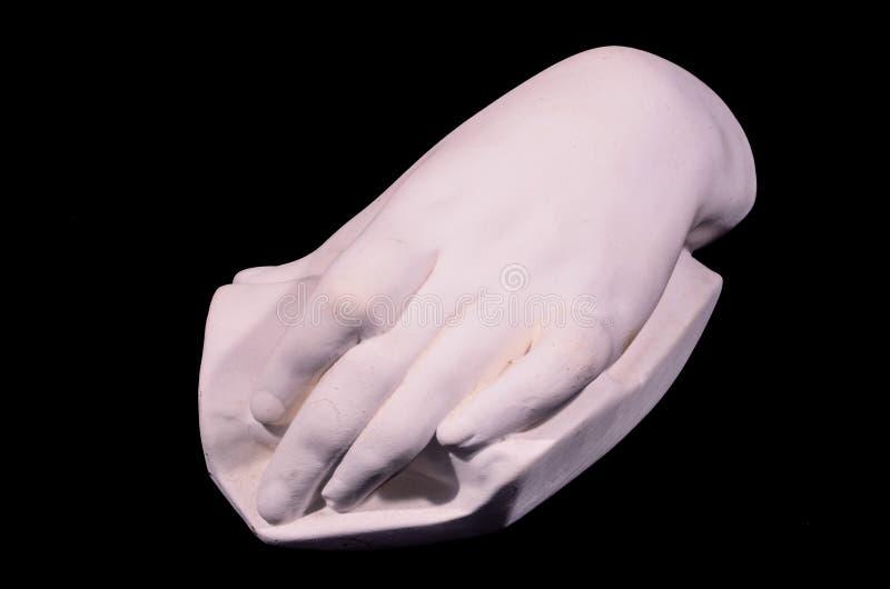 Gray Handmade Hand Clay Statue royaltyfri fotografi