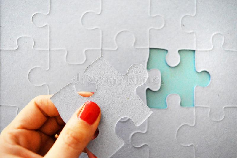 Puzzle paper stock photography