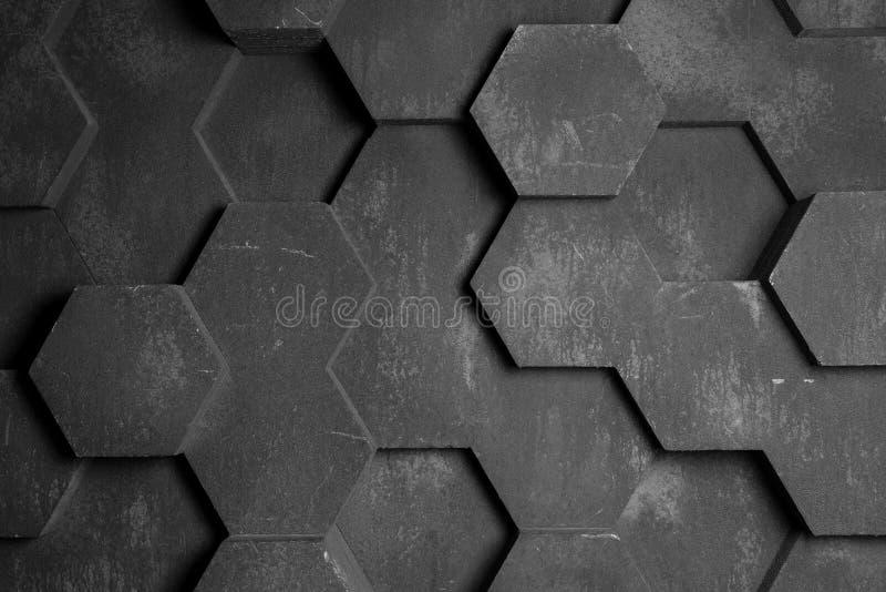 Gray Hexagon Background Texture imagen de archivo libre de regalías