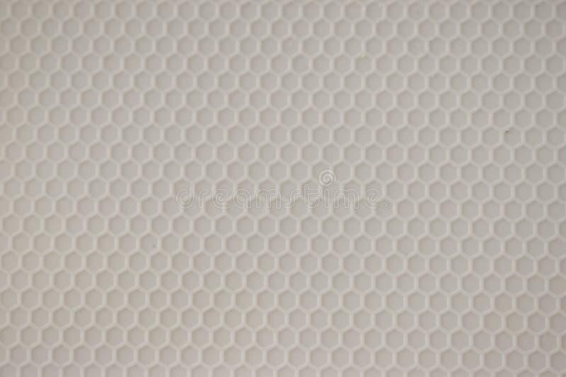 Gray Hexagon Pattern no plástico moldado fotografia de stock