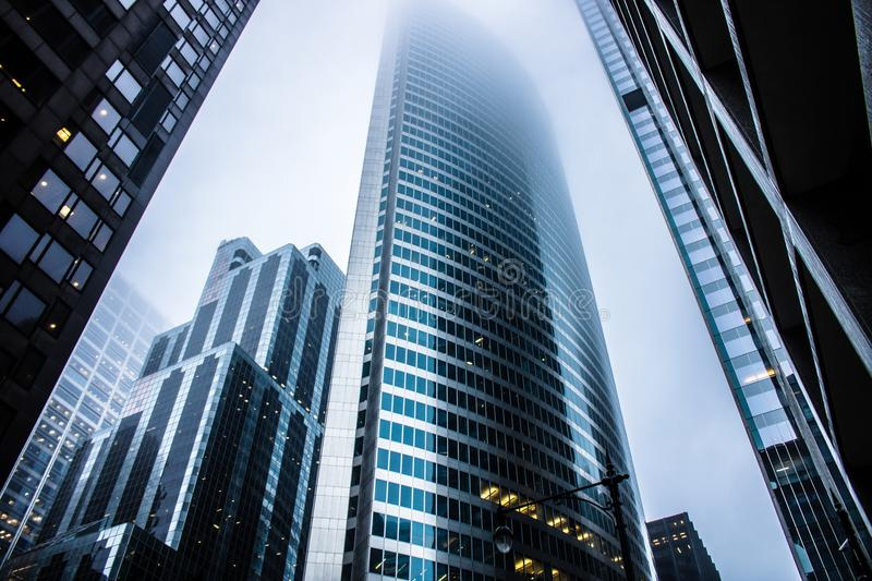 Gray High Rise Buildings royalty free stock images