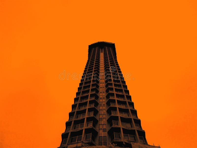 Gray High-rise Concrete Building royalty free stock images