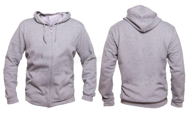 Gray Hoodie Mock Up Stock Image. Image Of Blank, Jacket - 93581855