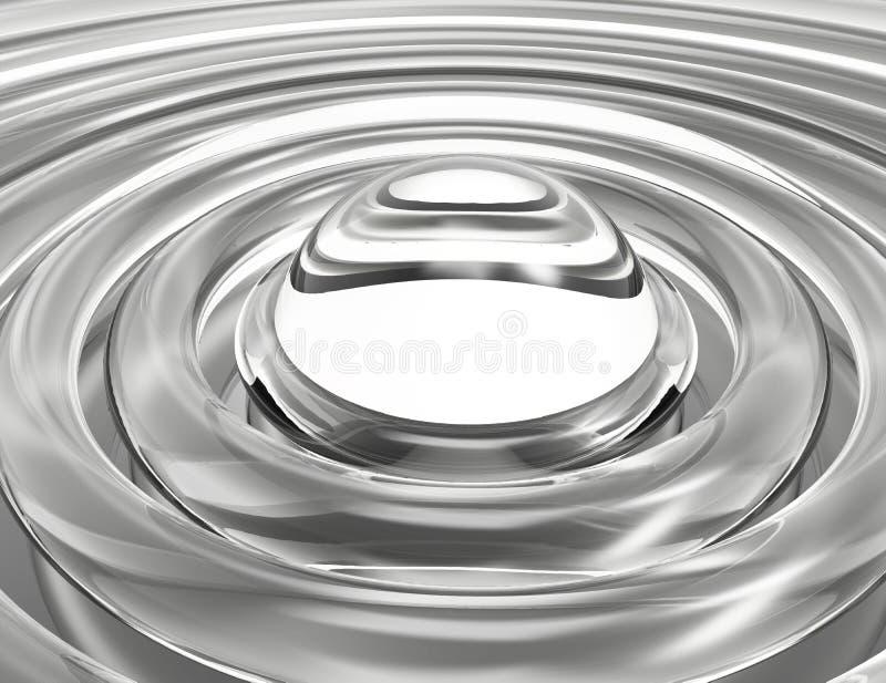 Gray Horizon, Abstracte Achtergrond stock illustratie