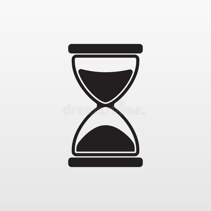 Gray Hourglass icon isolated on background. Modern stock illustration