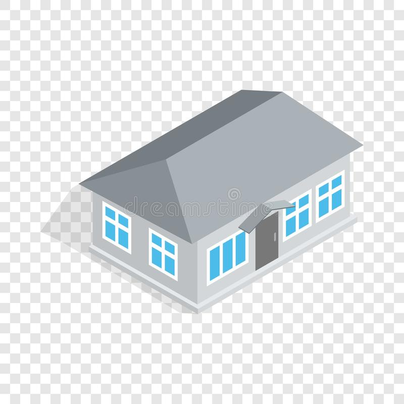 Gray house isometric icon. 3d on a transparent background vector illustration stock illustration