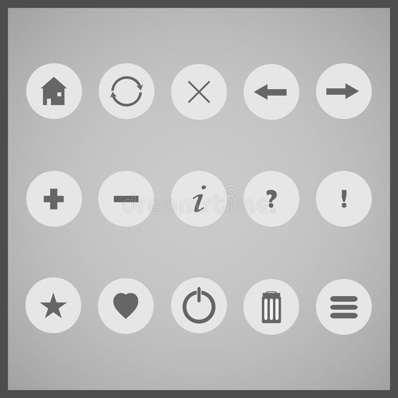 15 Gray Icons illustration libre de droits
