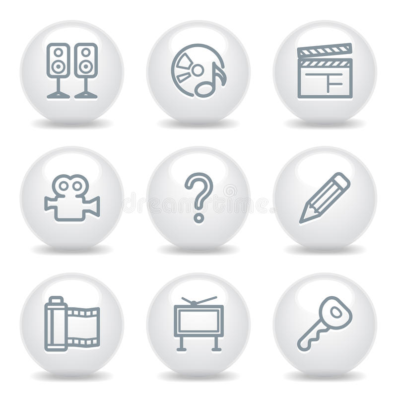 Free Gray Icons Set 28 Royalty Free Stock Photography - 11117117