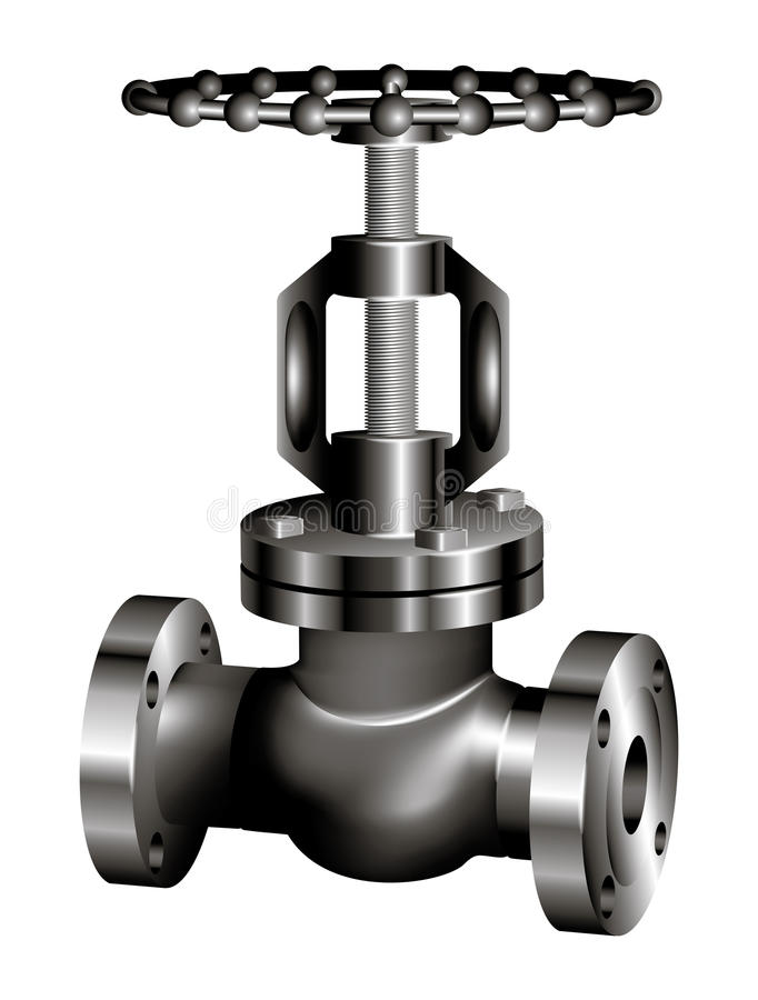 Gray industrial valve - vector vector illustration