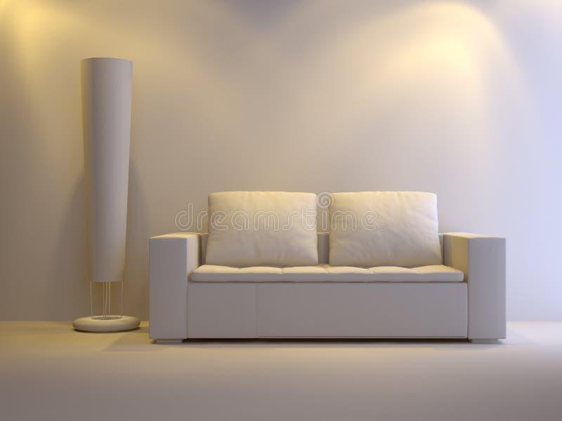 Gray interior vector illustration