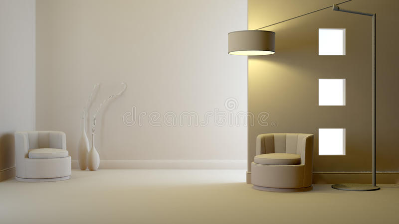 Gray interior vector illustration