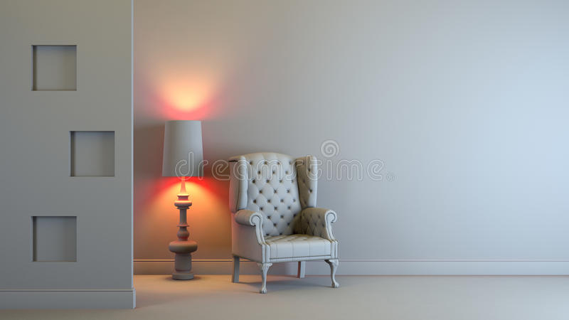 Gray interior royalty free illustration