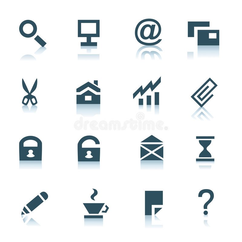 Download Gray Internet Icons, Part 1 Stock Photo - Image: 8468940