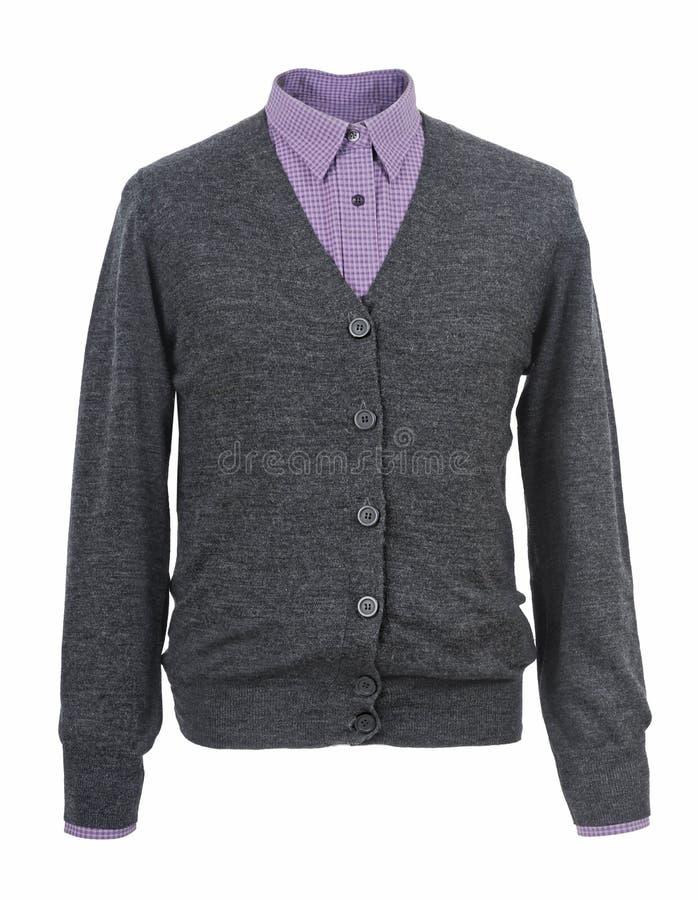 Gray jacket isolated on white stock image