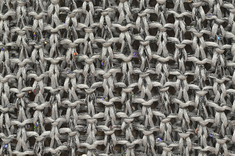 Gray Knitted Wool royalty-vrije stock afbeelding