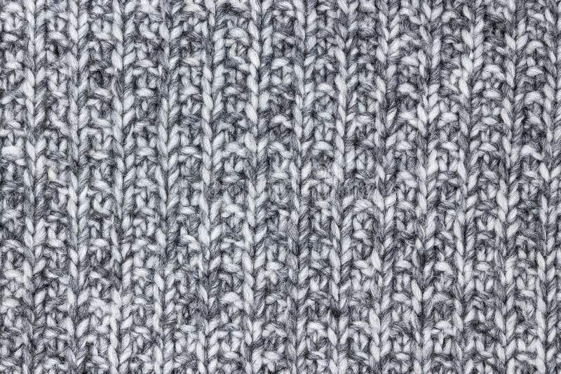 Gray knitted wool texture royalty free stock image