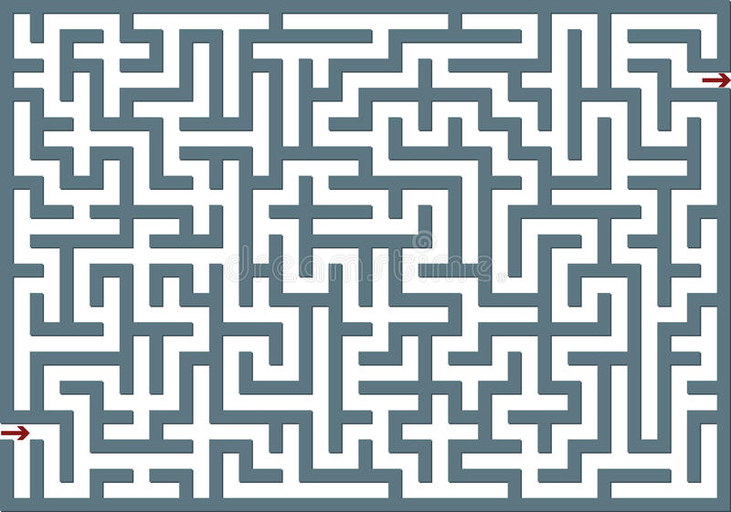 Download Gray labyrinth stock illustration. Image of hope, idea - 14631025