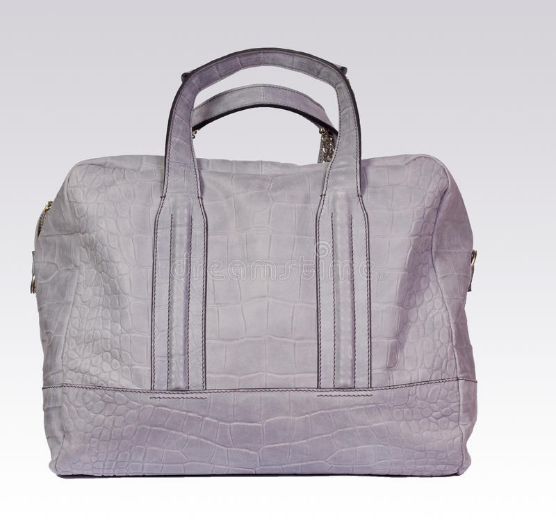 Download Gray leather woman bag stock image. Image of fancy, modern - 12791481