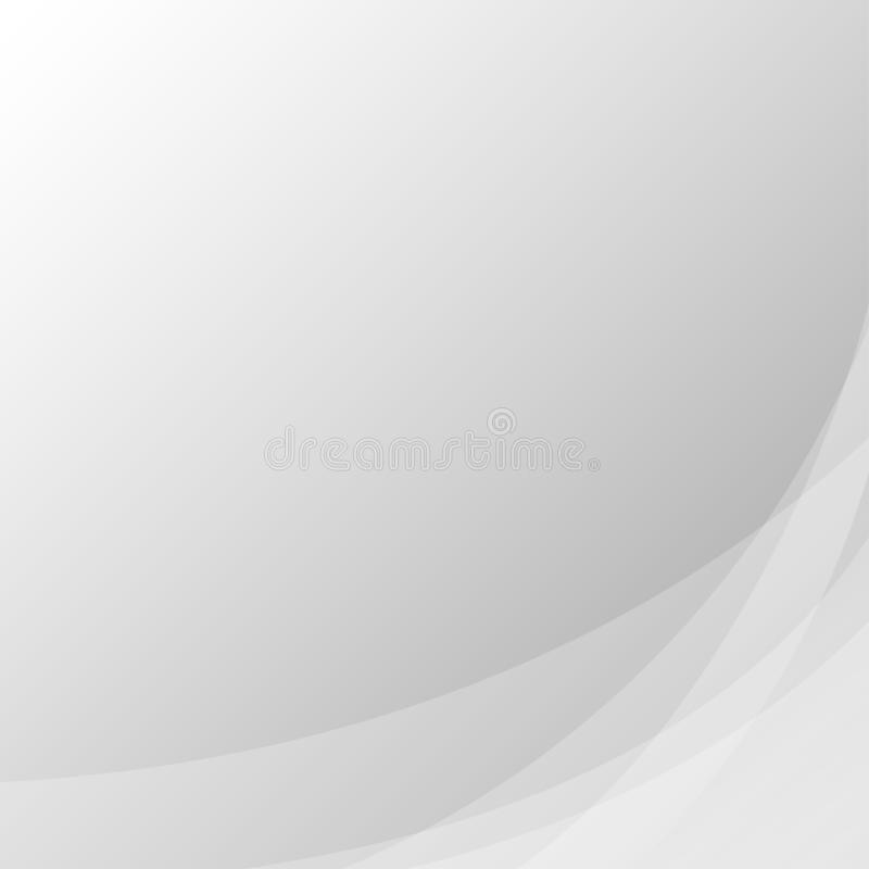 Gray line wave concept abstract vector subtle background royalty free illustration