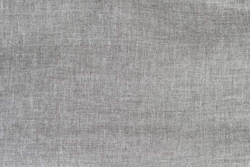 Gray linen fabric. Texture close up.  stock photography