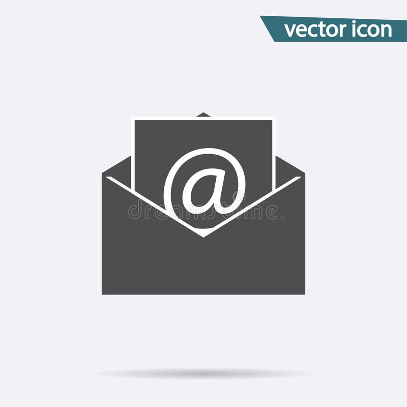Gray mail icon isolated on background. Modern flat pictogram, business, marketing, internet concept. stock illustration
