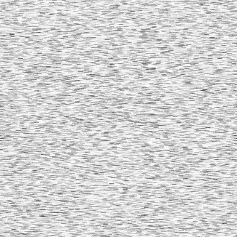 Gray Marl Heather Texture Background Faux Cotton Fabric mit vertikalem T-Shirt-Stil Vector-Musterdesign Weißer Leichtstahl lizenzfreie abbildung