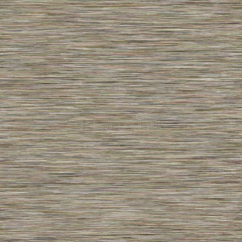 Gray Marl Khaki variierte Heather Texture Border Background Nahtloses Muster der vertikalen Blended Line Faux T-Shirt Fabric Dyed lizenzfreie abbildung