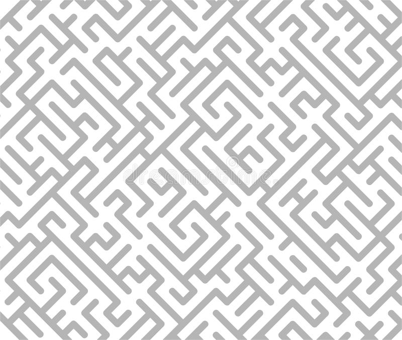 Download Gray maze background stock illustration. Image of confusion - 11856309