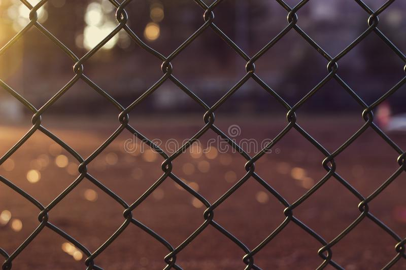 Gray Metal Chain Link Fence Close Up Photo stock photography