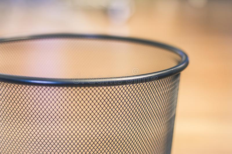 Gray Metal Mesh Cup royalty free stock photos