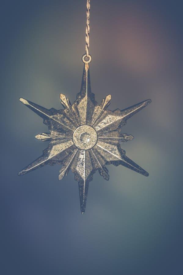 Gray-metallic Star-shaped Decor stock image