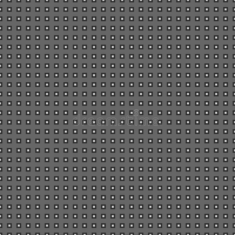 Gray Monochrome Geometric Seamless Pattern royaltyfri illustrationer