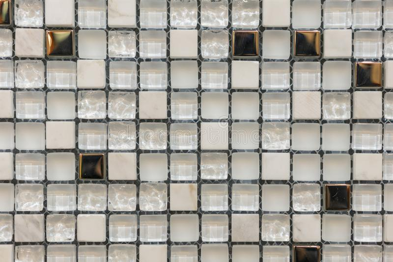 Gray mosaic background. Silver Sequins Seamless Background. abstract seamless mosaic background.  stock photography