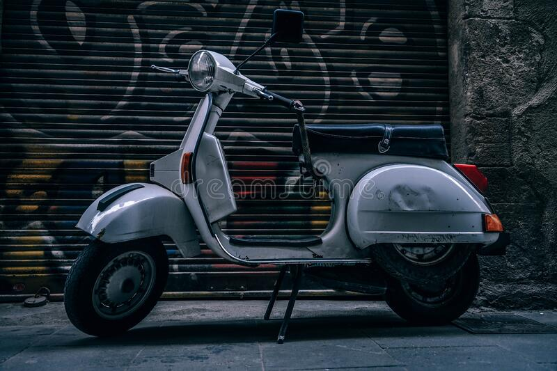 Gray Motor Scooter stock photography