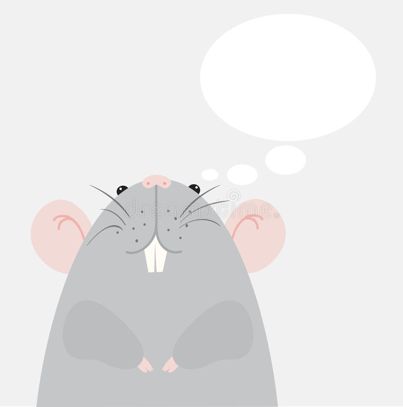 Download Gray mouse stock vector. Image of little, grey, animal - 12759482
