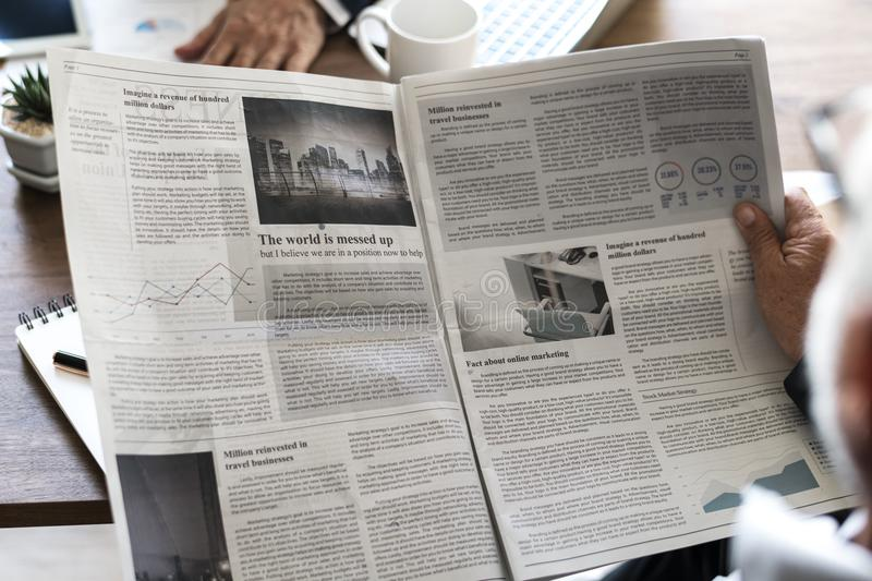 Gray Newspaper royalty free stock photography