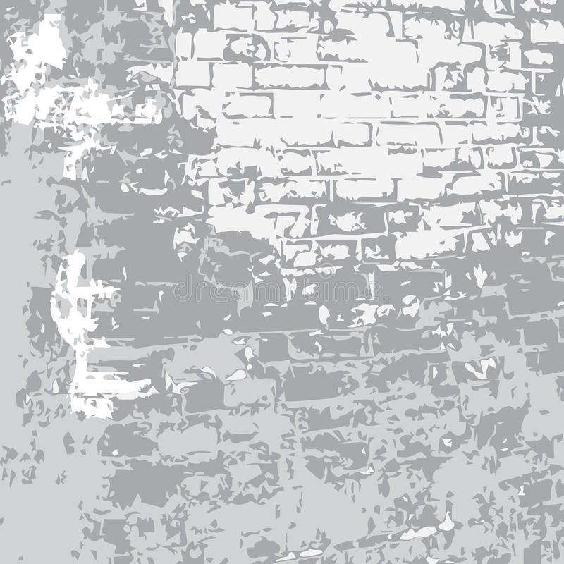 Gray_old_brick. Vector monochrome texture of an old brick tower wall fragment vector illustration