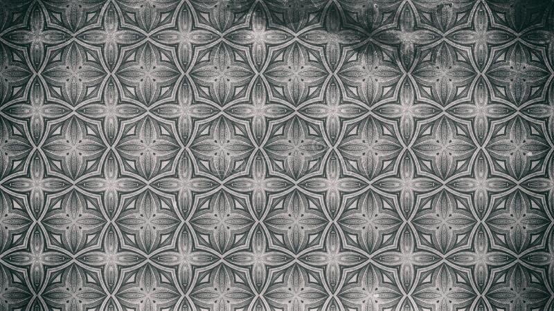 Gray Ornamental Vintage Background Pattern escuro ilustração royalty free