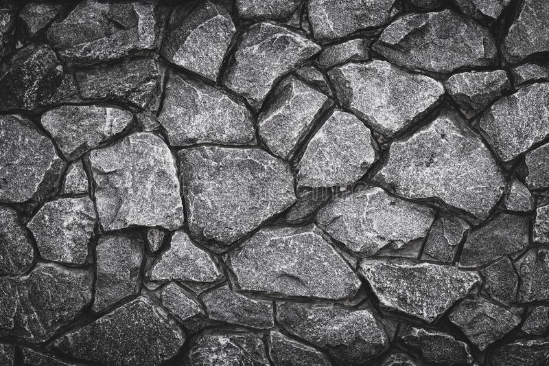 Gray pattern of stone wall background. Abstract gray grunge texture, rocky road. Grey granite surface, floor. Old stone wall, bric stock photo