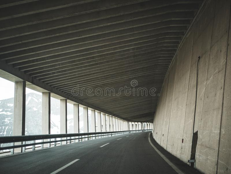 Gray Paved Road royalty free stock photo