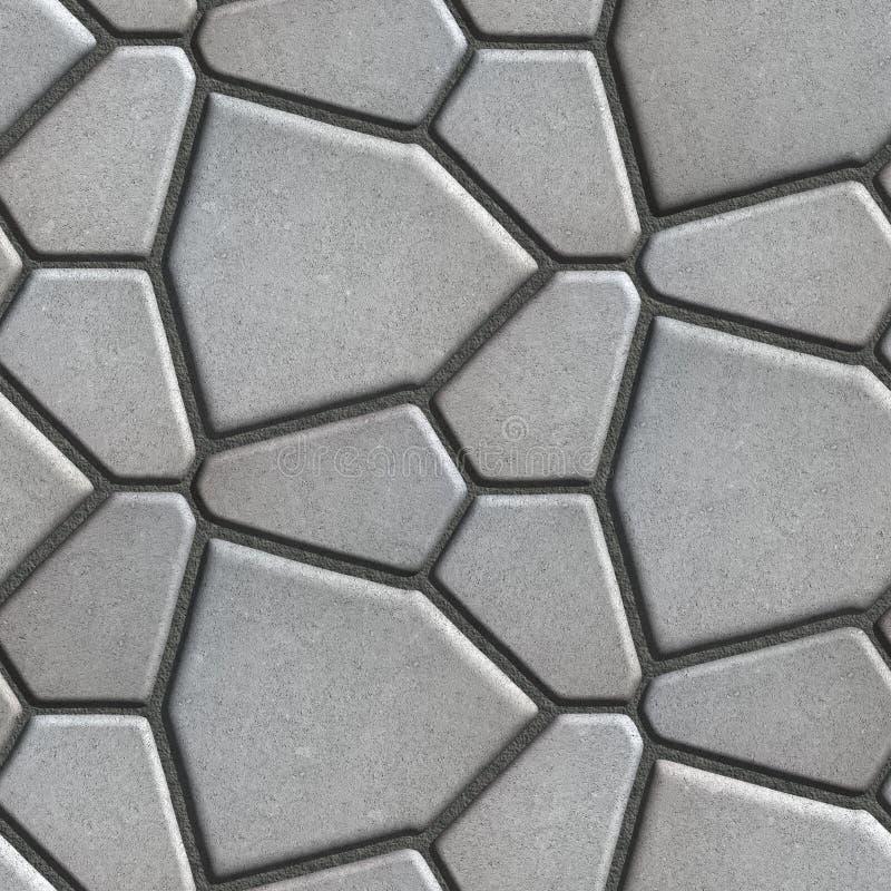 Gray Pavement - unterschiedliche Größe von Polygonen stockfotografie